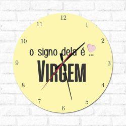 Relógio O Signo dela é Virgem