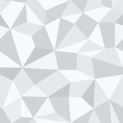 Saldão - Papel de Parede Gray Polygonal 0,60x3,00m