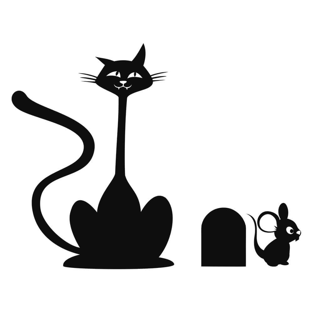 Adesivo de Geladeira Cat and Mouse