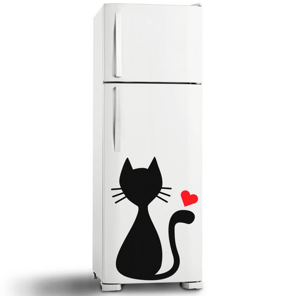 Adesivo de Geladeira Cat Jhow