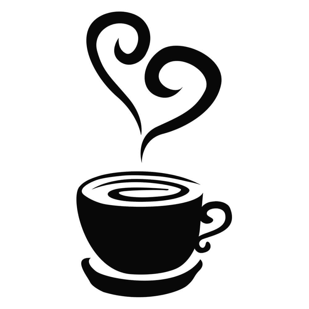 Adesivo de Geladeira Coffee Love