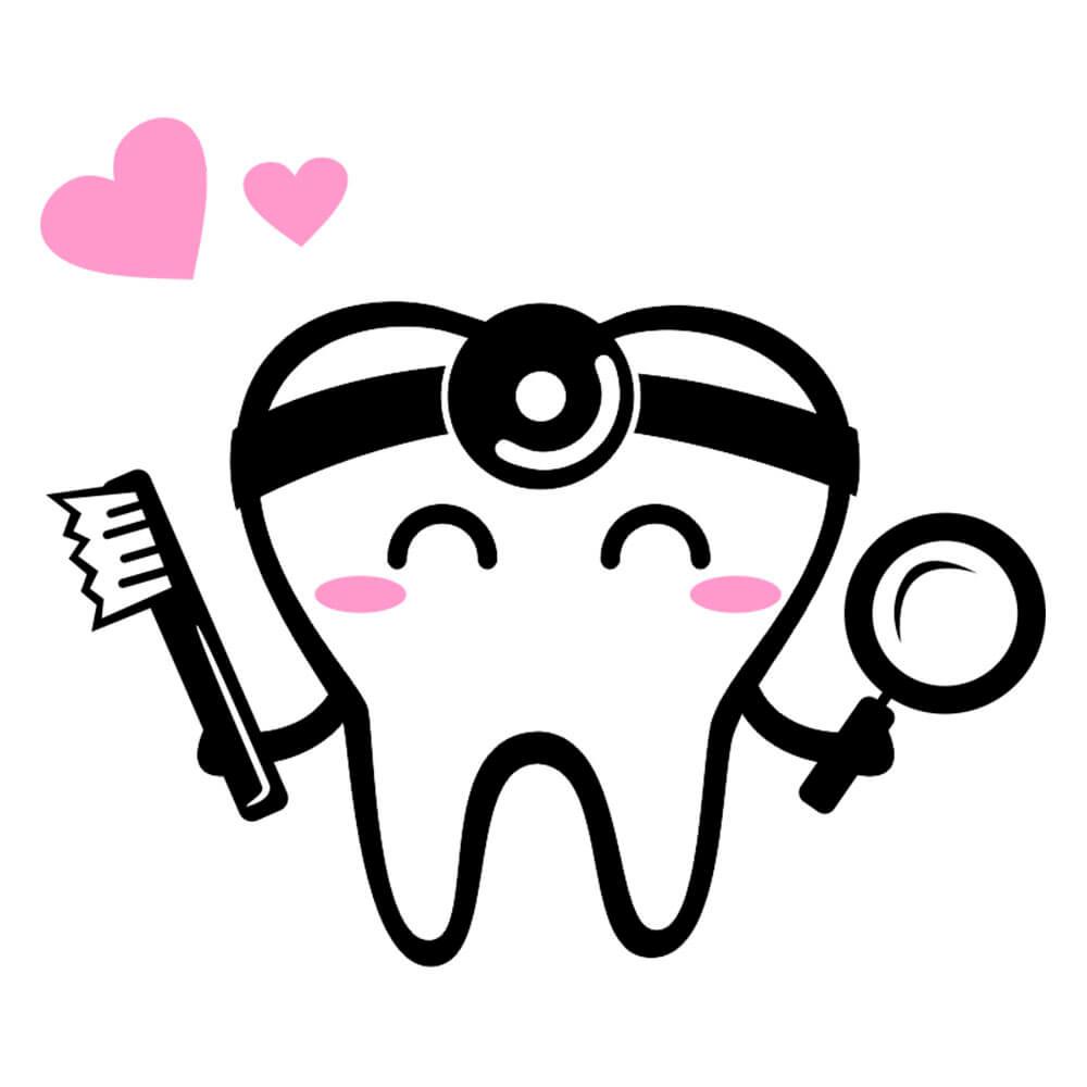 Adesivo de Geladeira Dentista