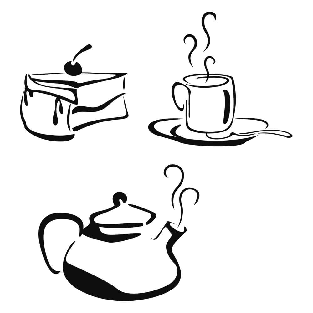 Adesivo de Geladeira Hora do Café