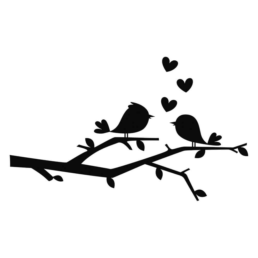 Adesivo de Geladeira Passarinhos in Love