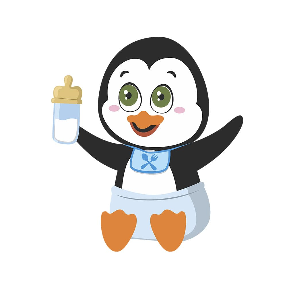 Adesivo de Geladeira Pinguim Baby