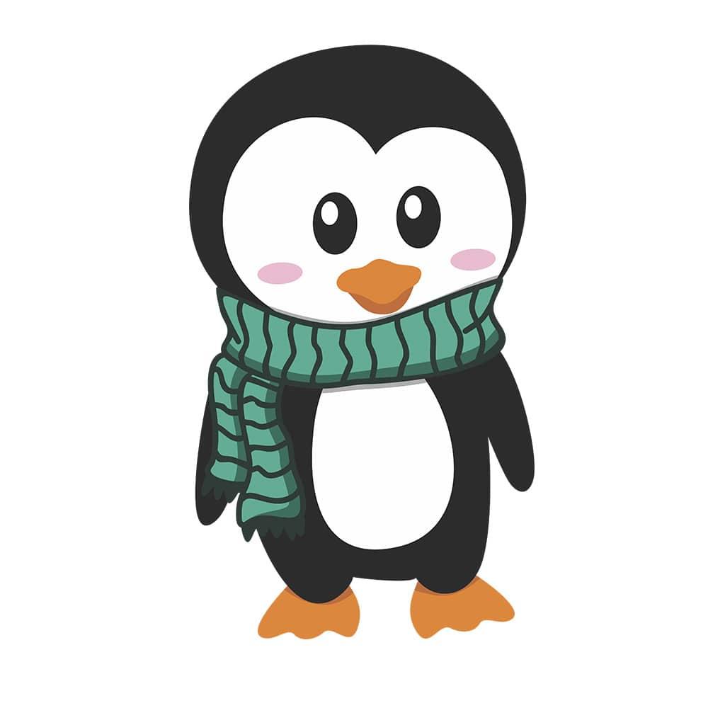 Adesivo de Geladeira Pinguim Cachecol