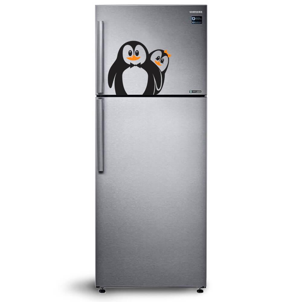 Adesivo de Geladeira Pinguim Casal
