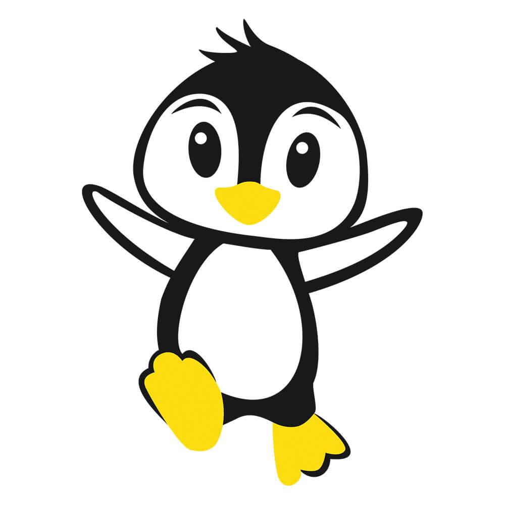 Adesivo de Geladeira Pinguim Feliz