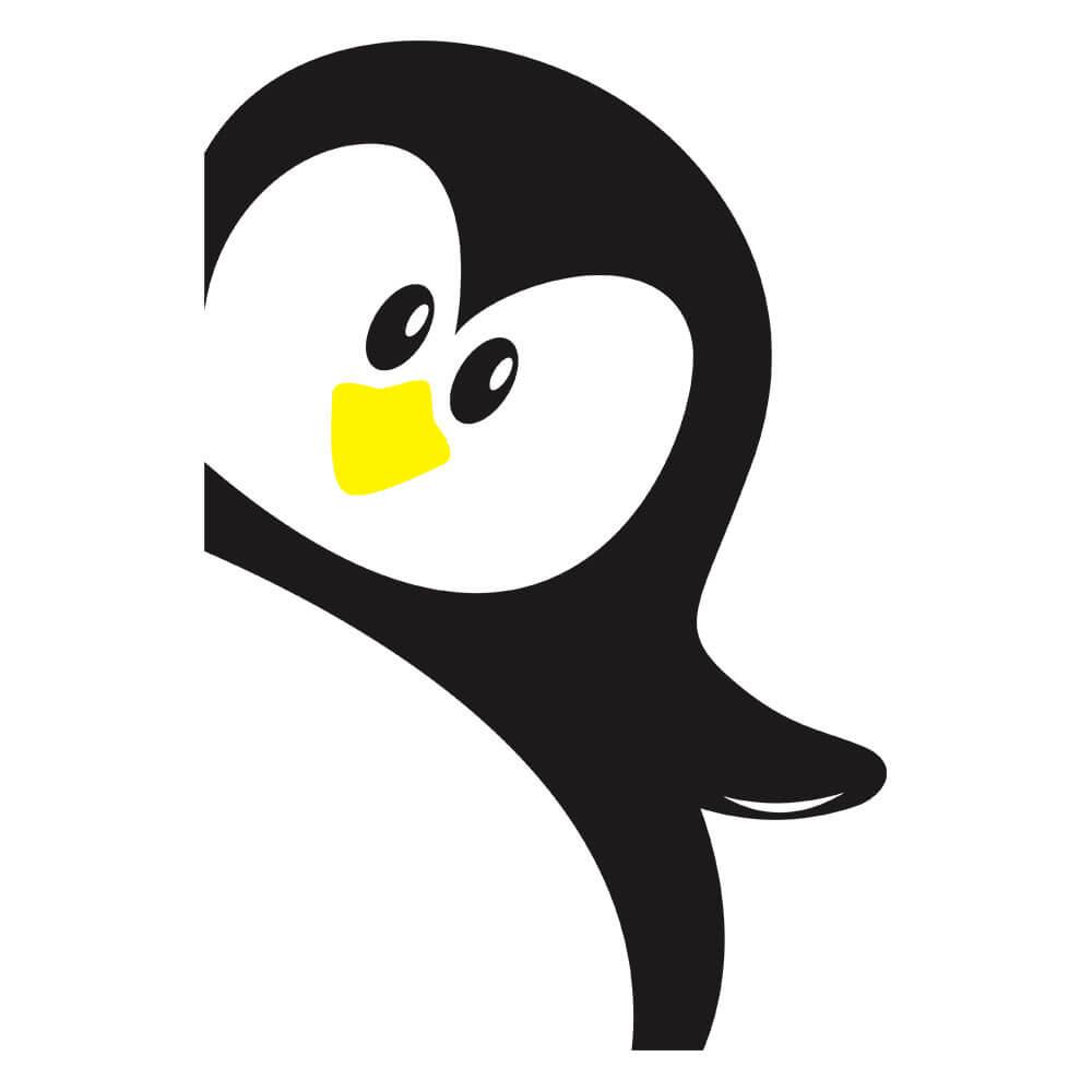Adesivo de Geladeira Pinguim Hello