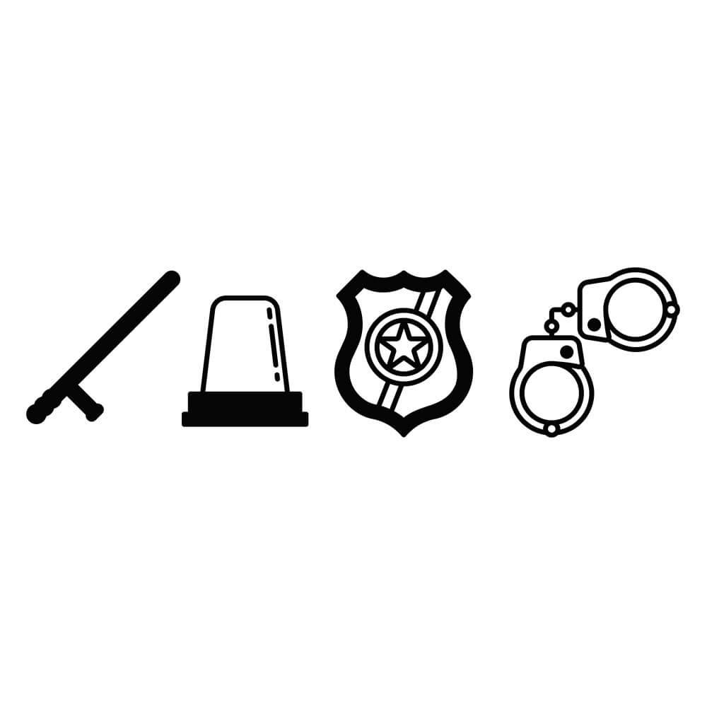 Adesivo de Geladeira Policial