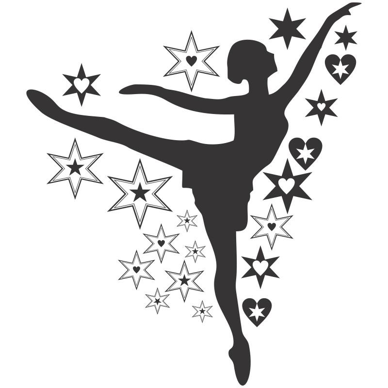 Adesivo Estrela Kalunga ~ Adesivo de Parede Bailarina Q
