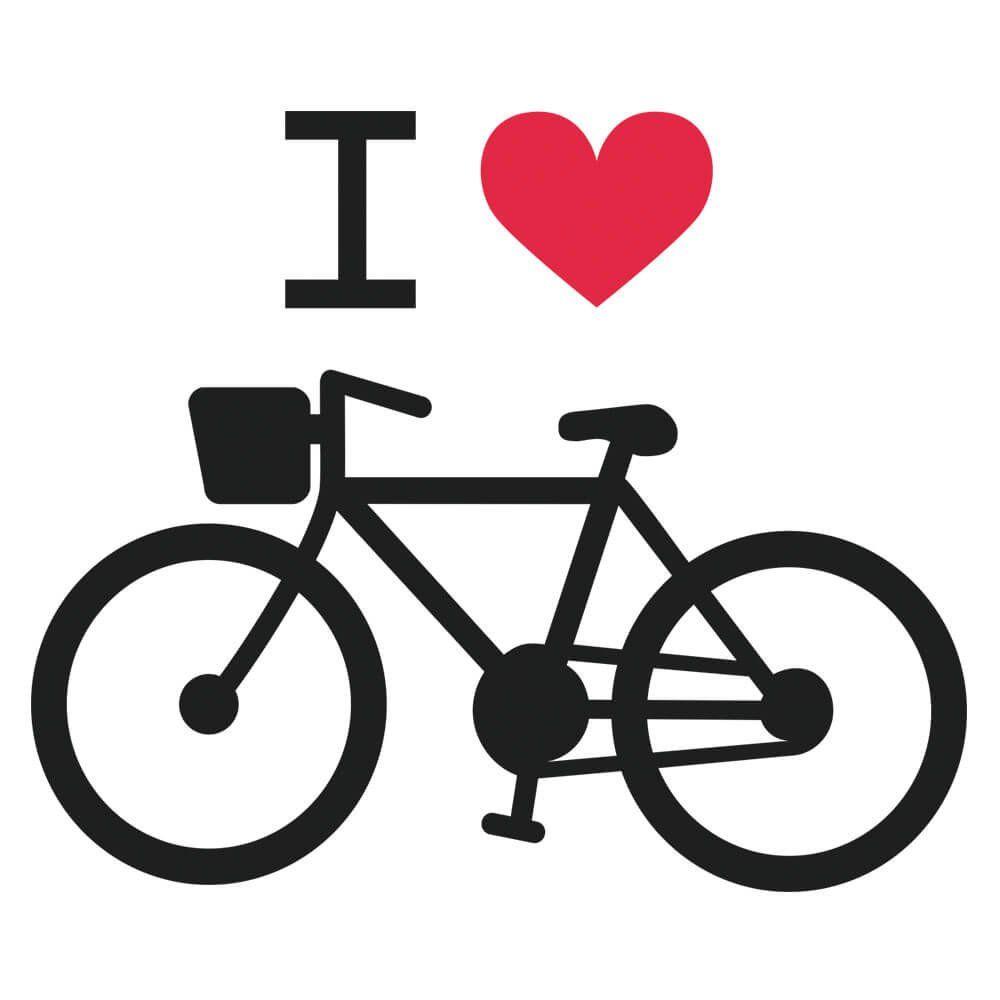 Adesivo de Parede Bicicleta Love