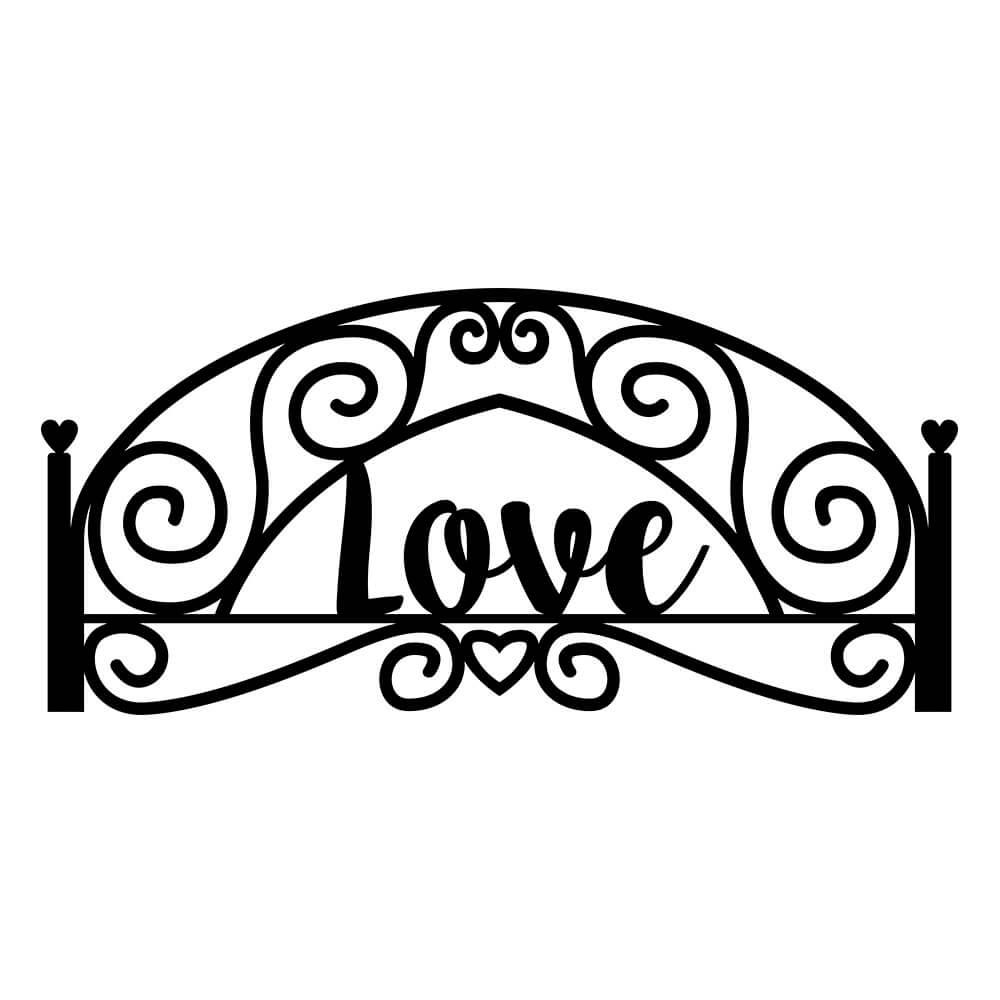 Adesivo de Parede Cabeceira Love