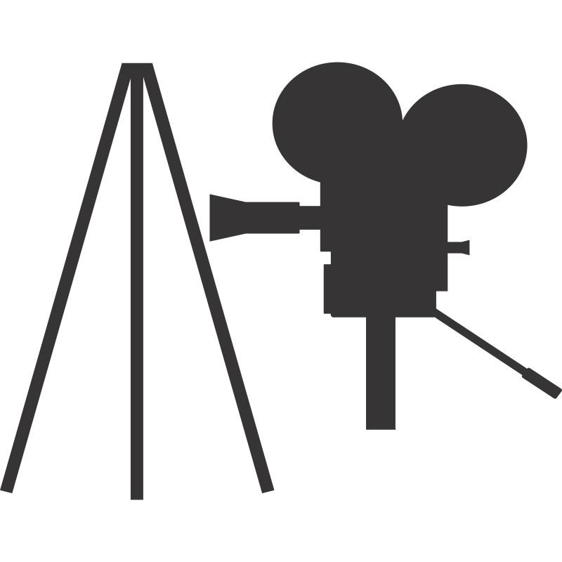 Adesivo de Parede Câmera Tripé