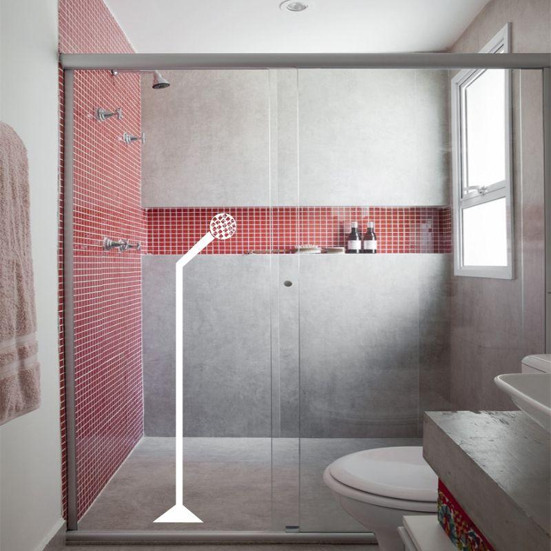 Adesivo de Parede Cantando no banheiro