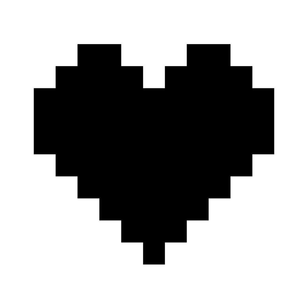 Adesivo de Parede Coração Pixel