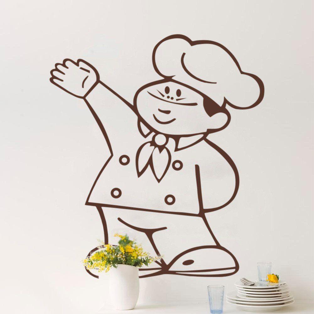 Adesivo de Parede Cozinheiro