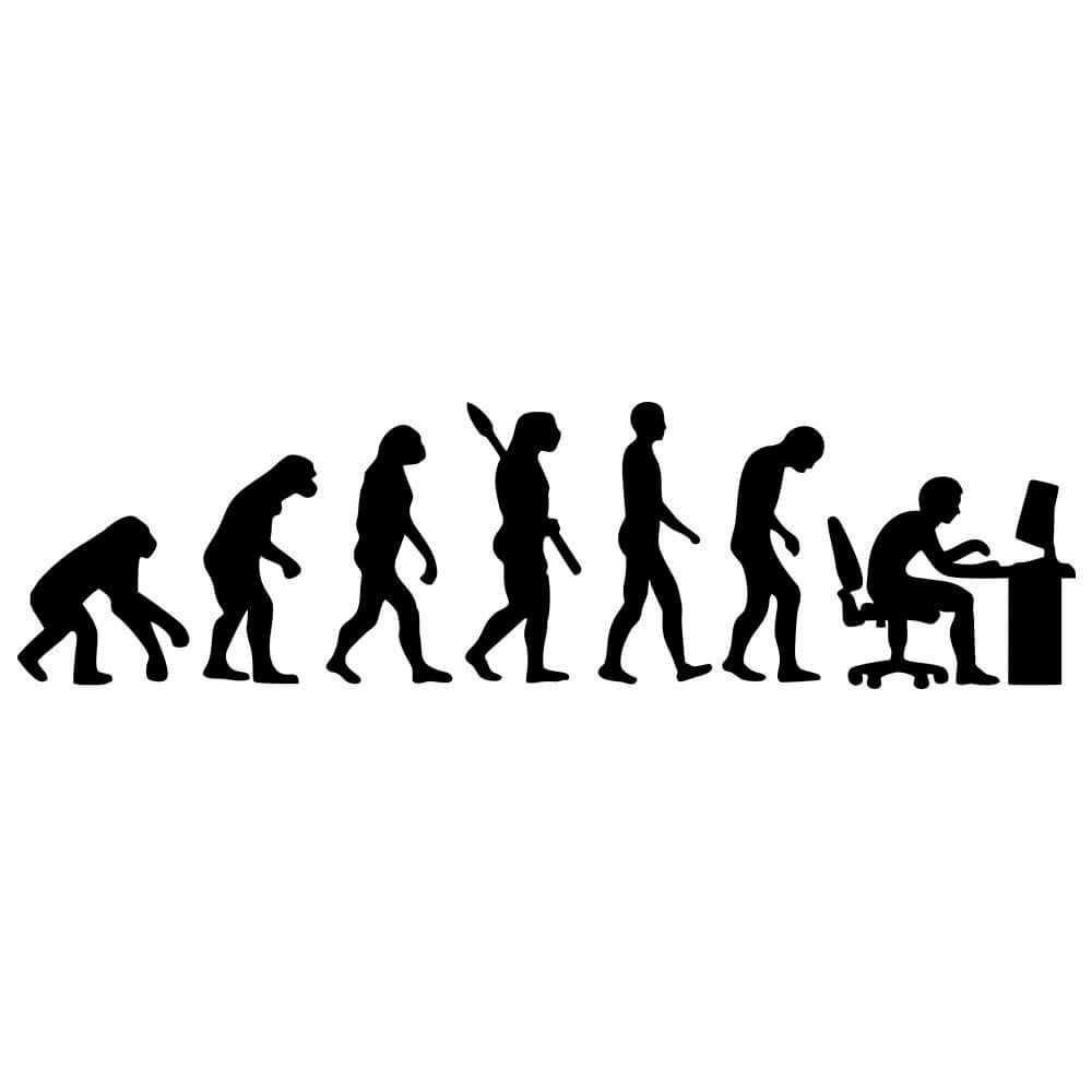 Adesivo de Parede Evolução Geek