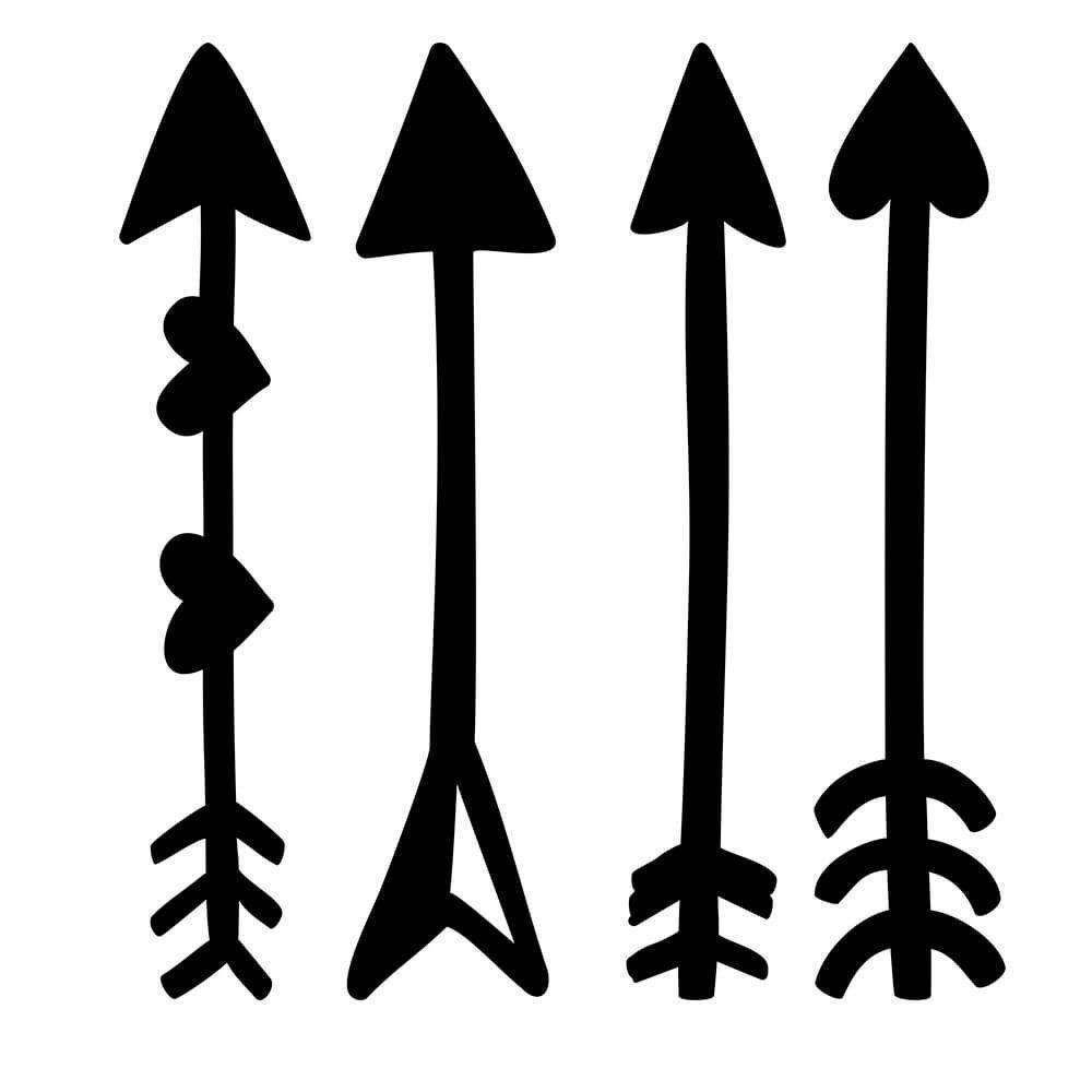 Adesivo de Parede Flechas Divertidas