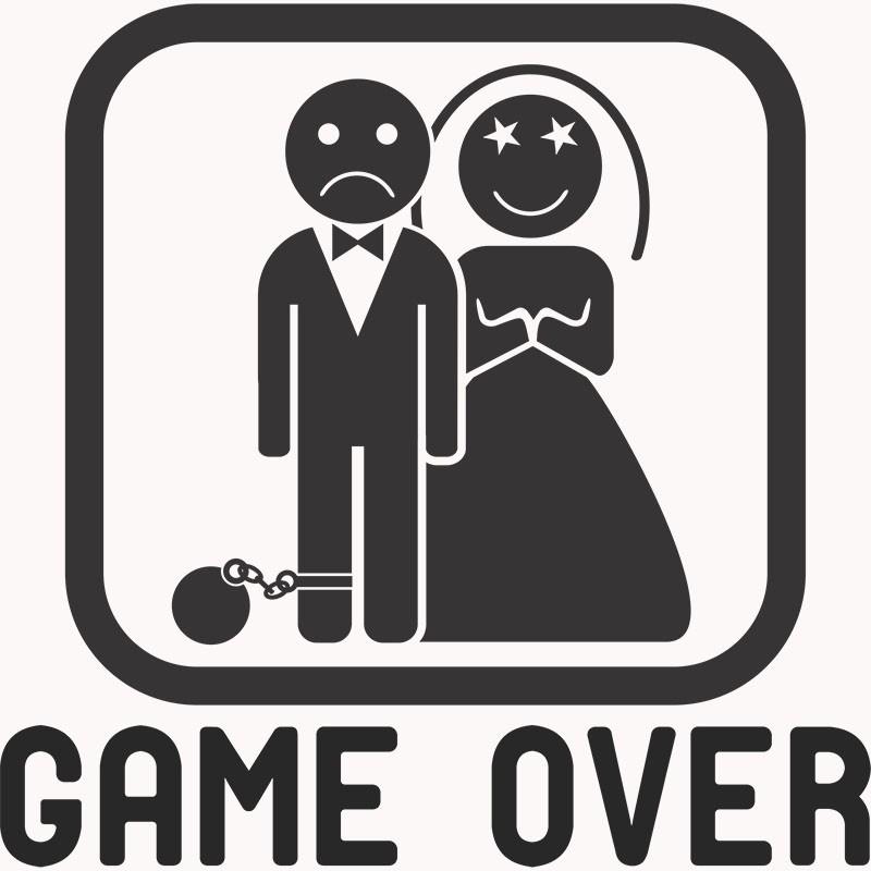 Adesivo de Parede Game Over 02