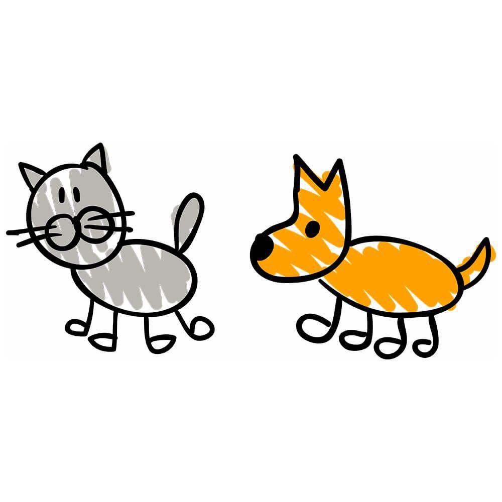 Adesivo Porta De Banheiro ~ Adesivo de Parede Gato Cachorro Desenho Adesivos de Parede e Papel de Parede QCola