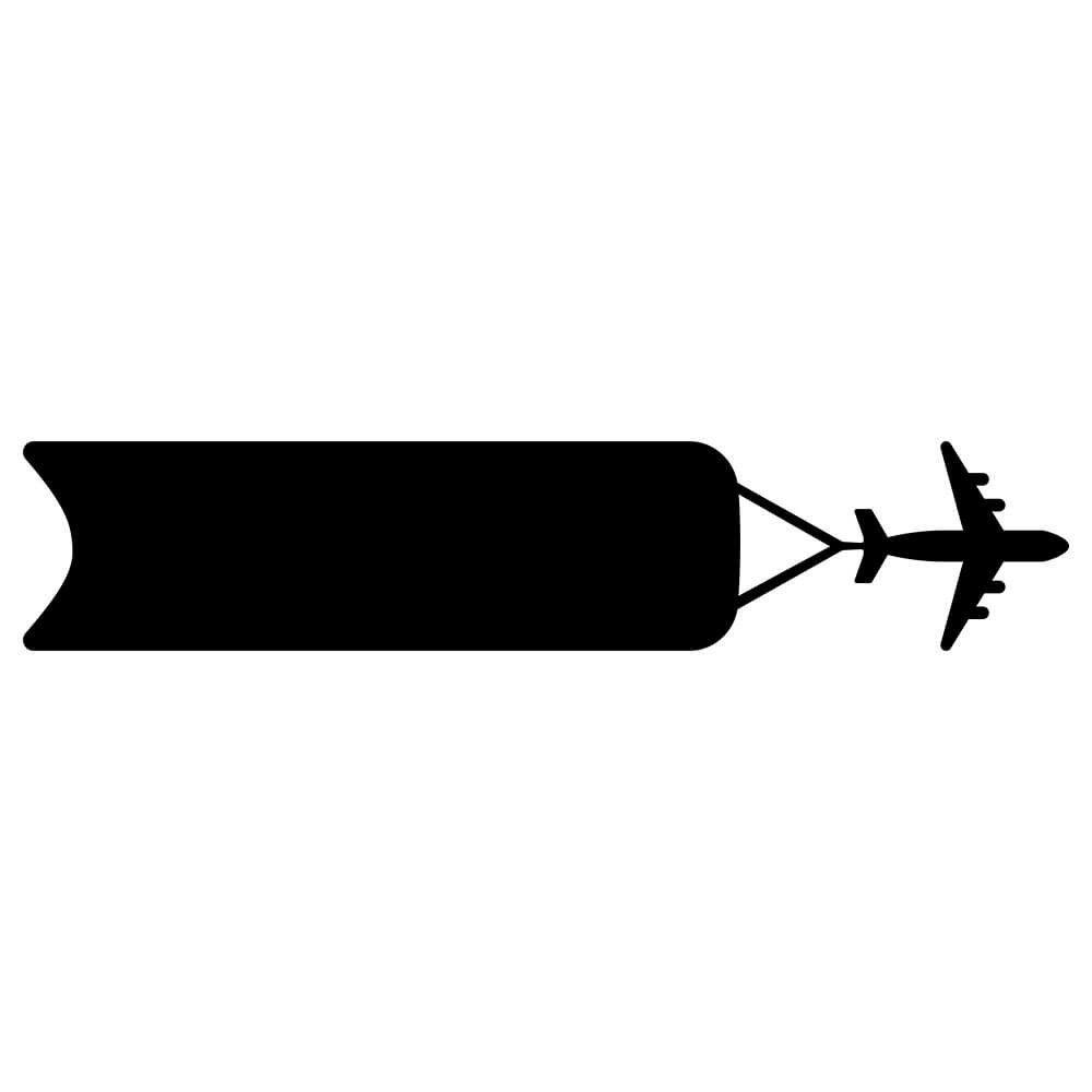 Adesivo de Parede Lousa Avião Faixa