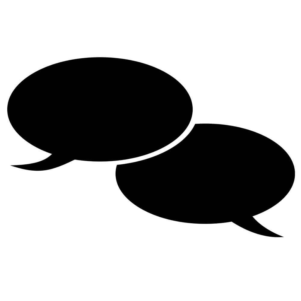 Adesivo de Parede Lousa Diálogo