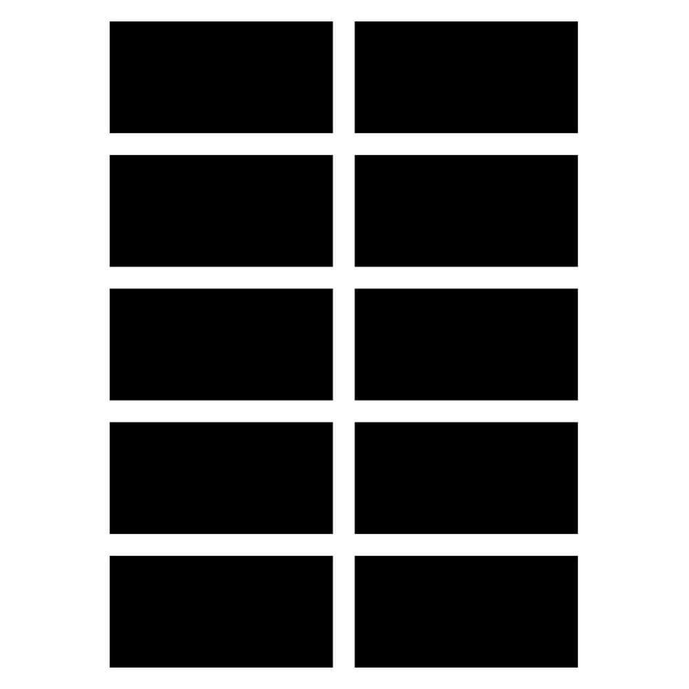 Adesivo de Parede Lousa Etiqueta Retângulo