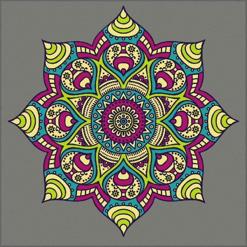 Adesivo de Parede Mandala Color