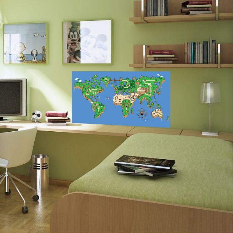 Adesivo de Parede Mapa super Mario World