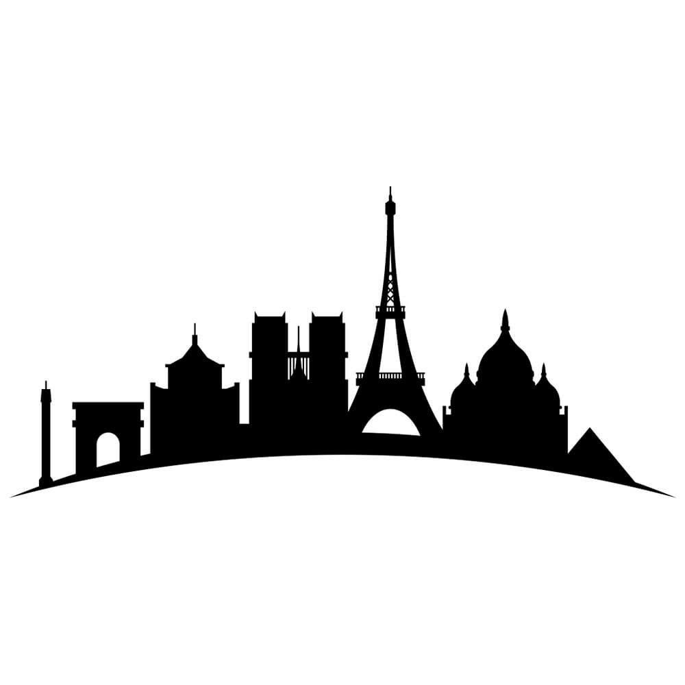 Adesivo de Parede Paris Bonjour