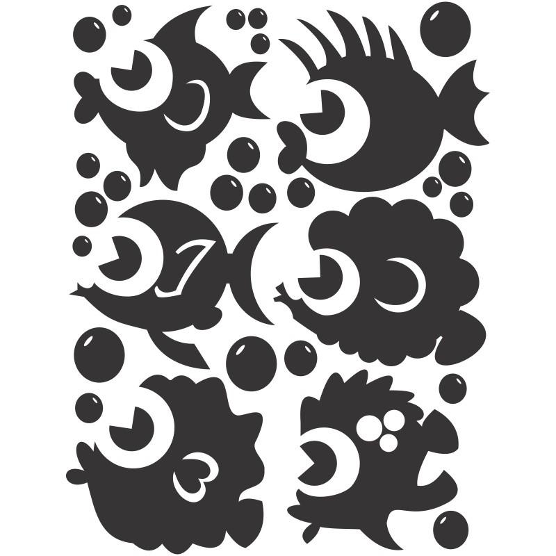 Adesivo de Parede Peixinhos Diferentes