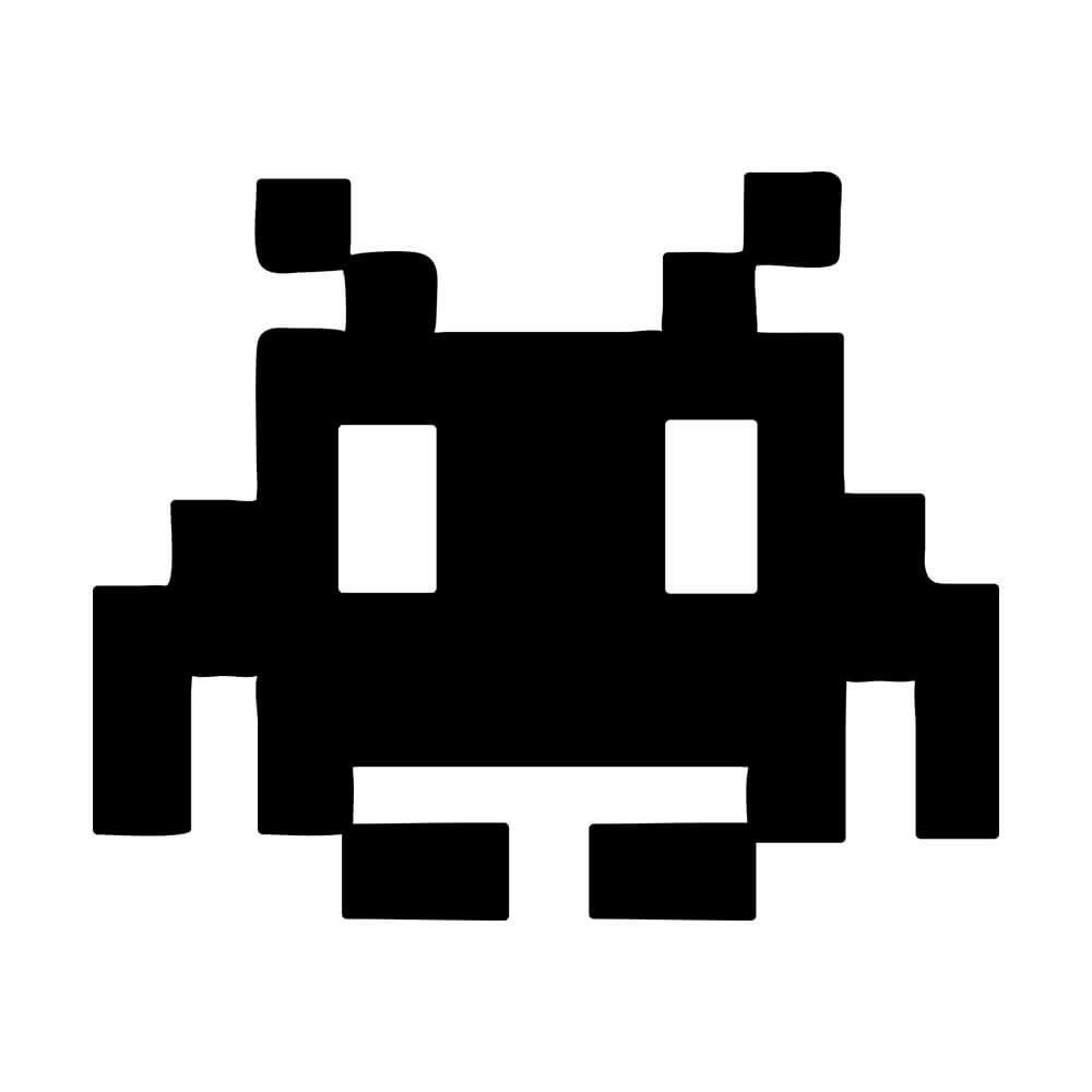 Adesivo de Parede Pixel Monster