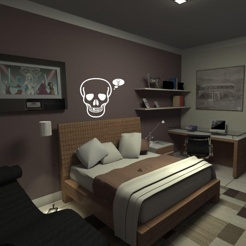 Adesivo de Parede Skull 03