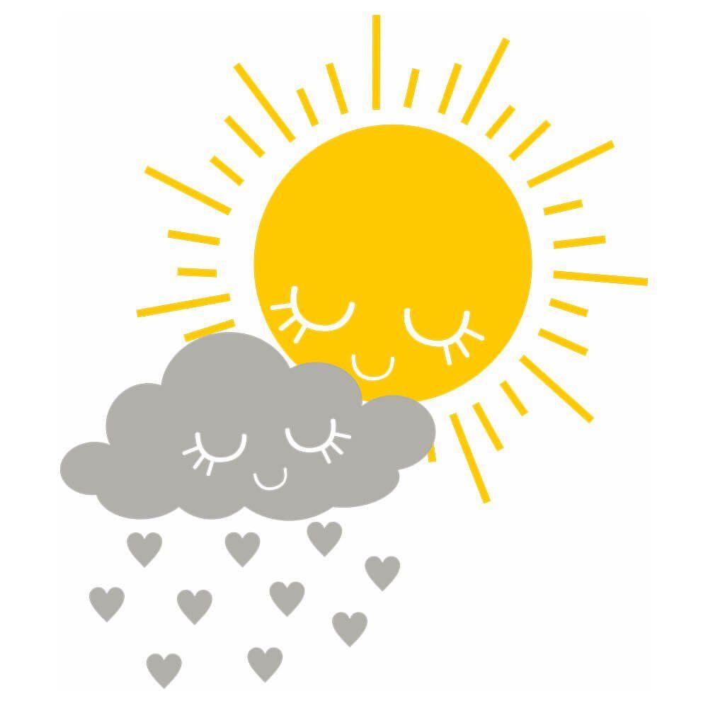 Adesivo de Parede Sol e Chuva