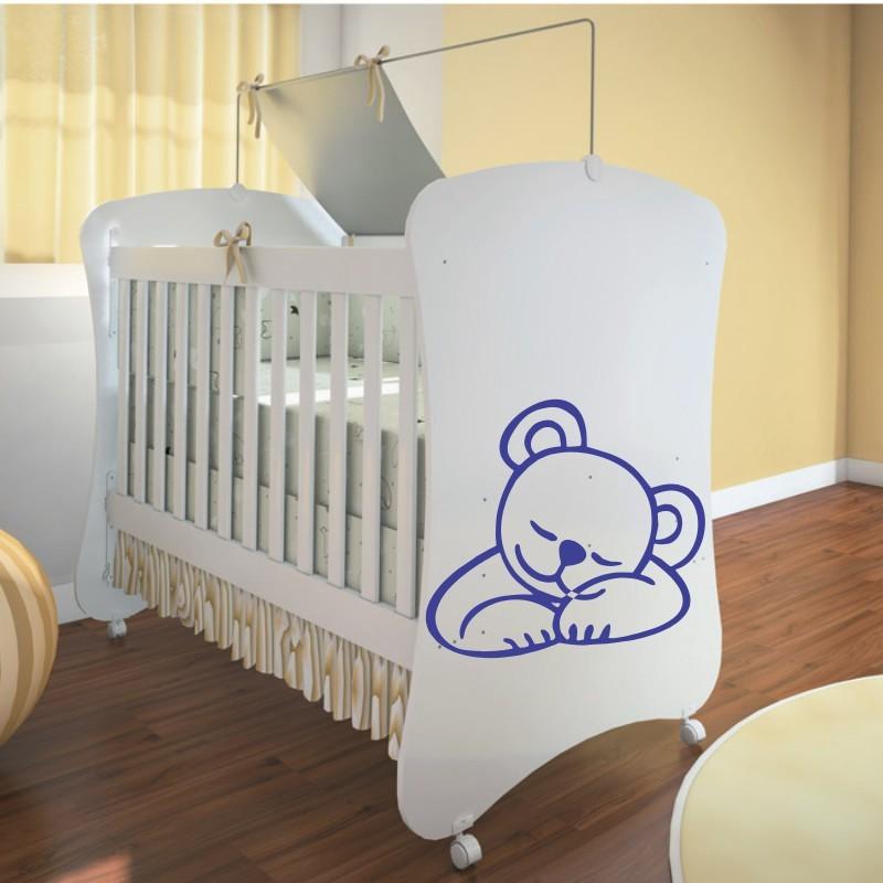 Adesivo Para Box De Banheiro Jateado ~ Adesivo de Parede Urso baby dormindo QCola