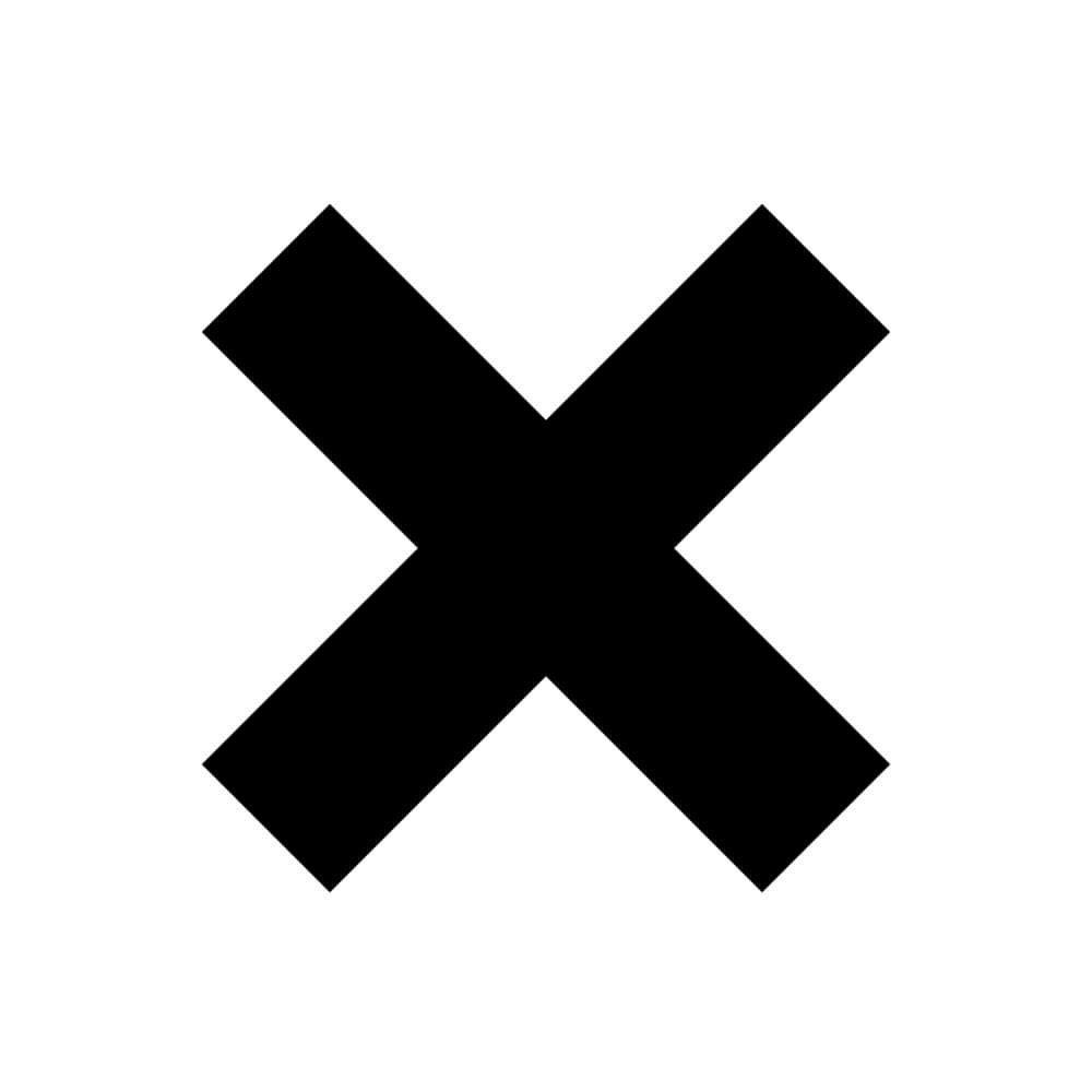 Adesivo de Parede Xis