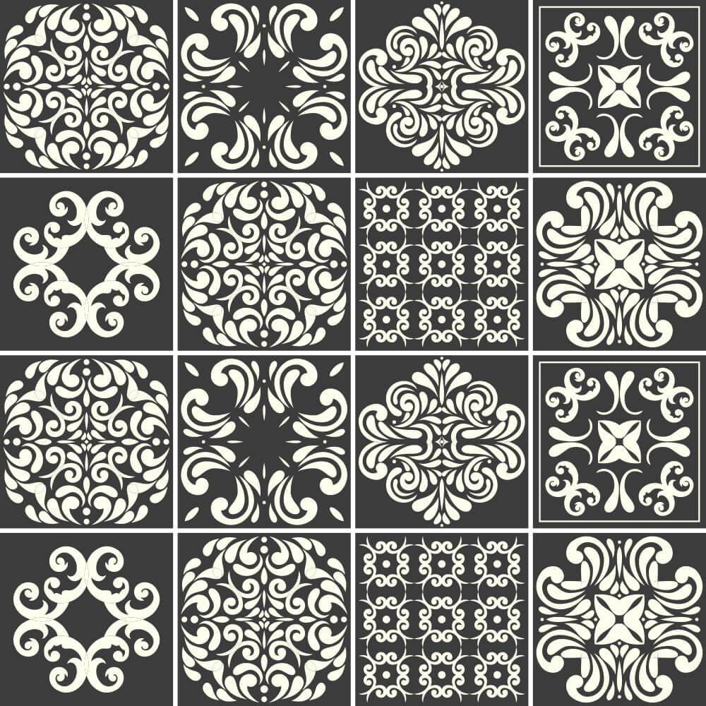 Adesivo para Azulejo Black Colargo