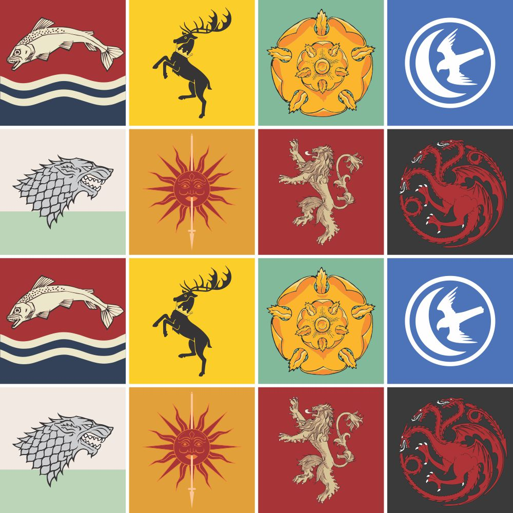Adesivo para Azulejo Casas Game Of Thrones