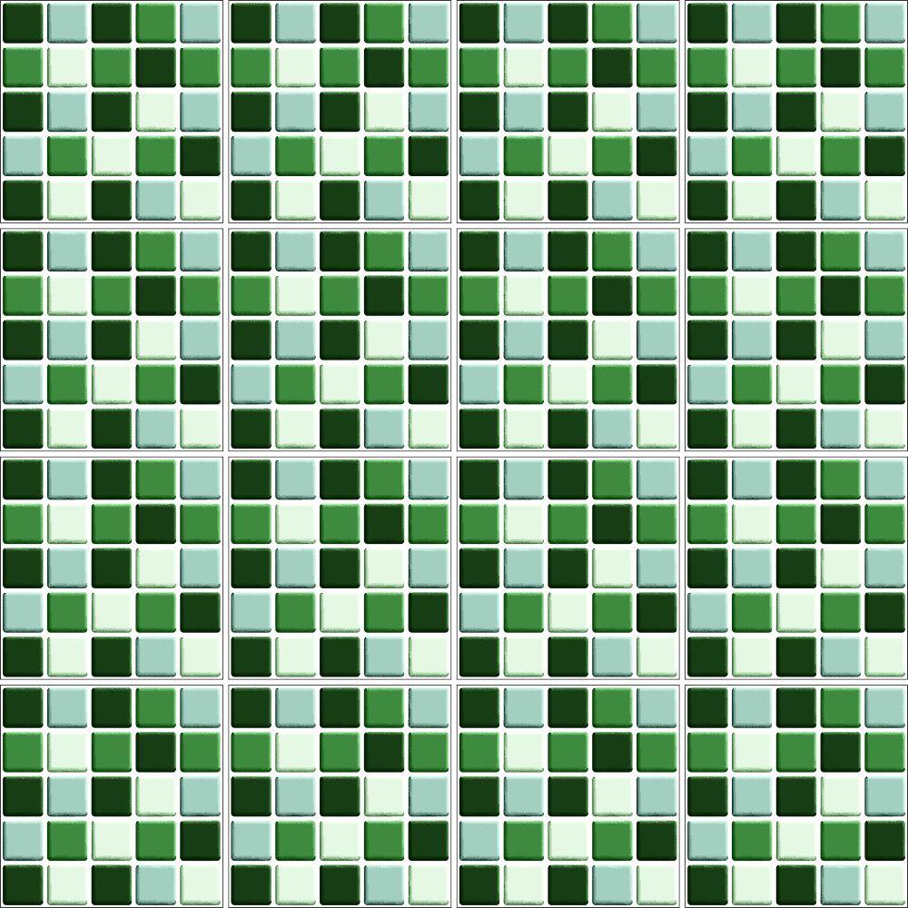 Aparador Rommanel ~ Adesivo de Azulejo Pastilha 3D Verde QCola