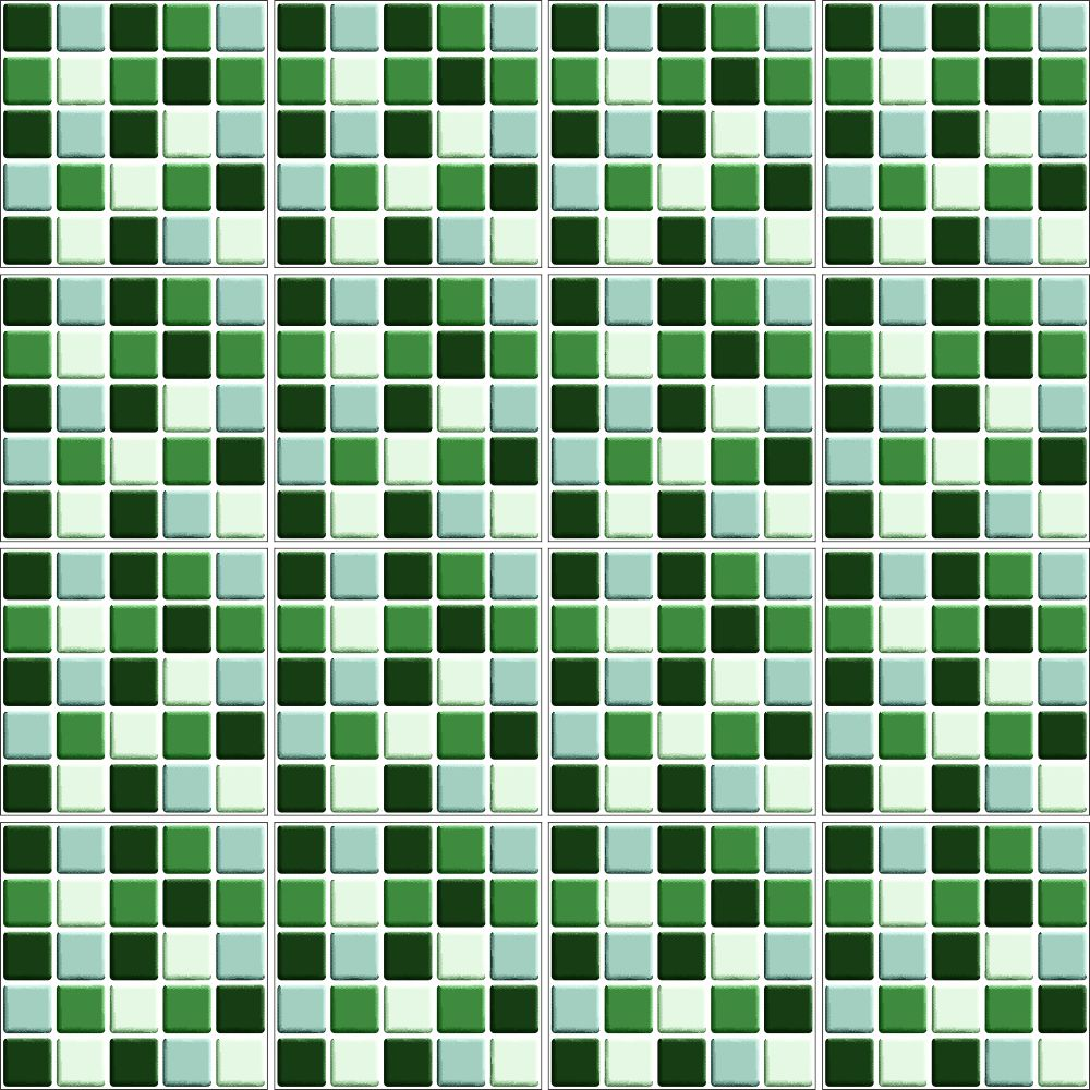 Adesivo De Cozinha ~ Adesivo de Azulejo Pastilha 3D Verde QCola
