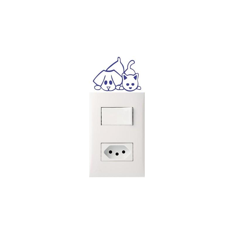 Adesivo para Interruptor Cat Dog