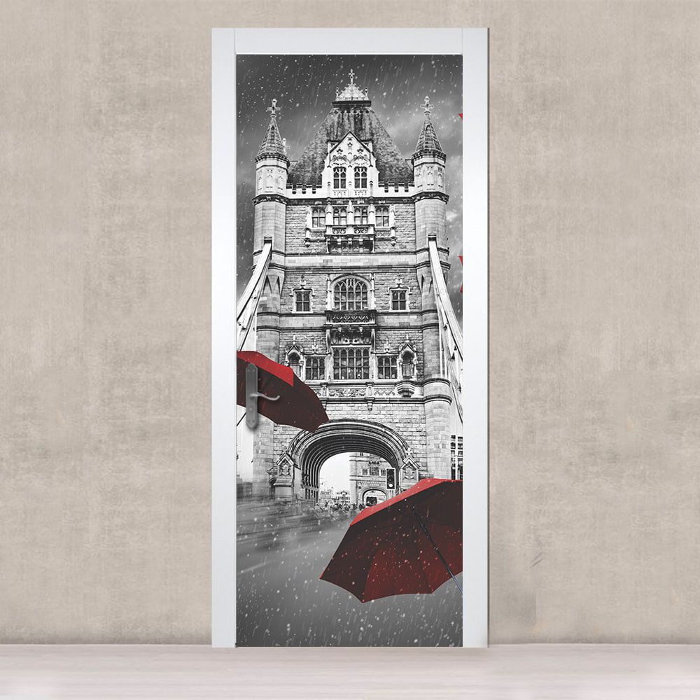 Adesivo de Porta London Umbrella