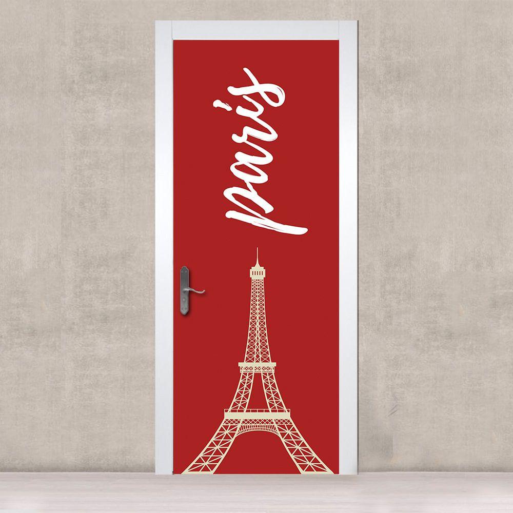 Adesivo de Porta Paris Red