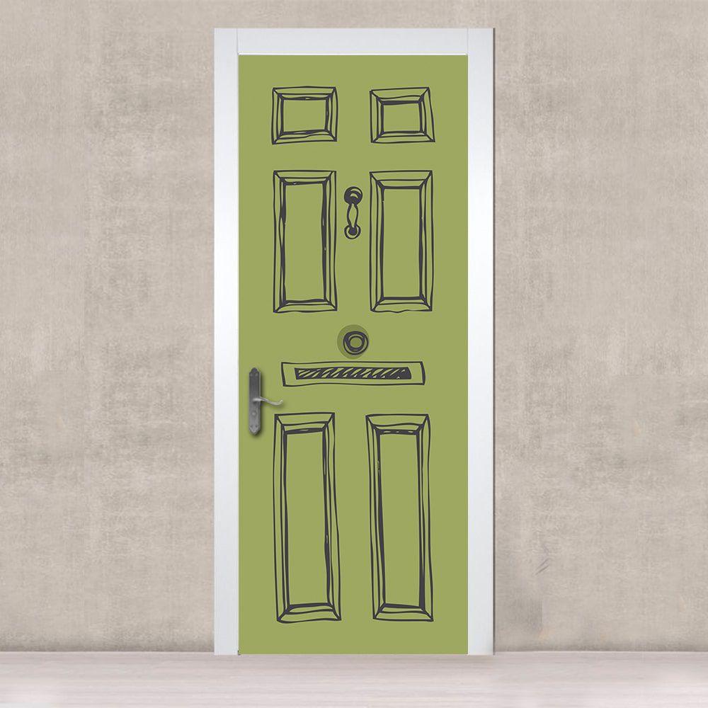 Adesivo de Porta Verde