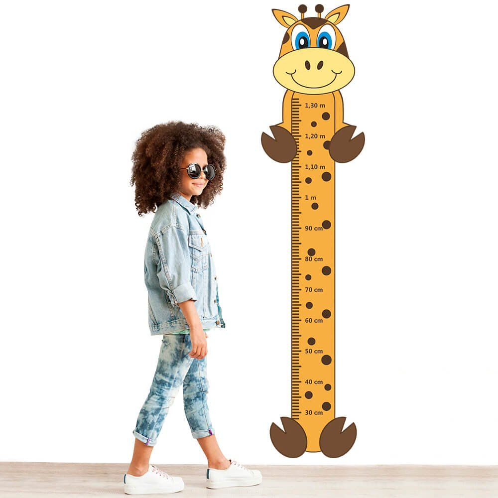 Adesivo Régua de Crescimento Girafa com Patas