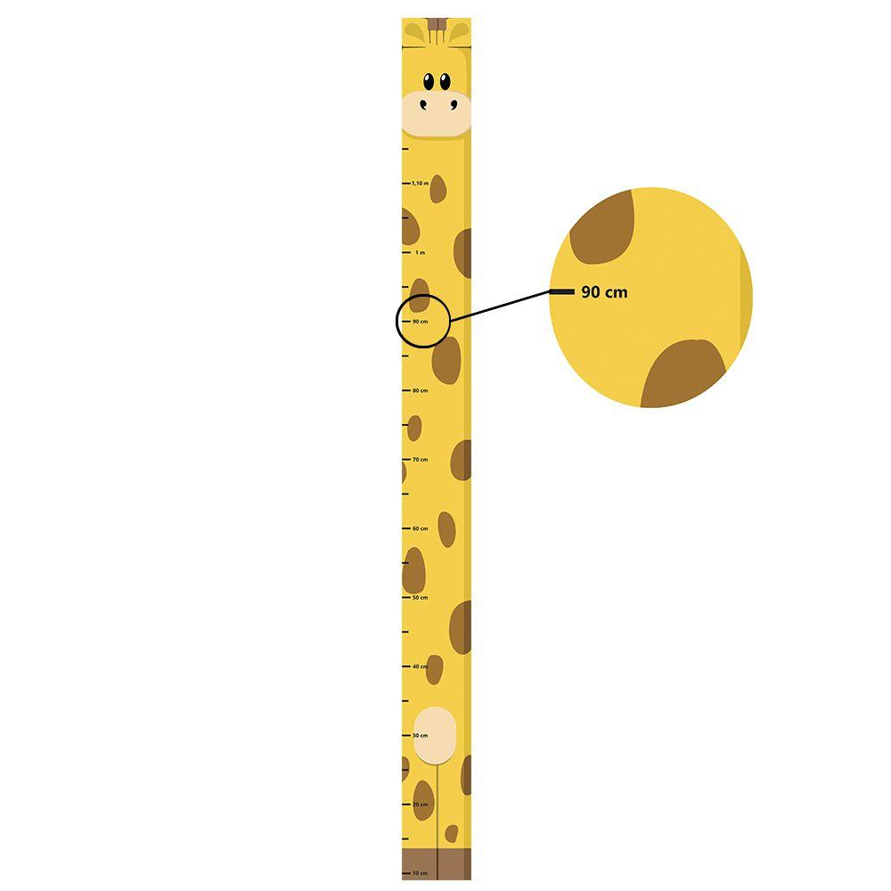 Adesivo Régua de Crescimento Girafinha