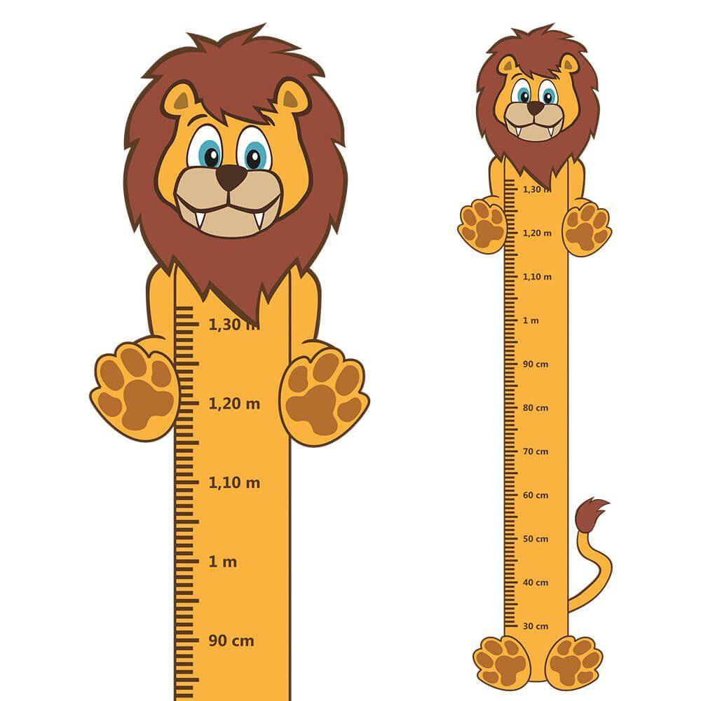 Adesivo Régua de Crescimento Leão com Patas