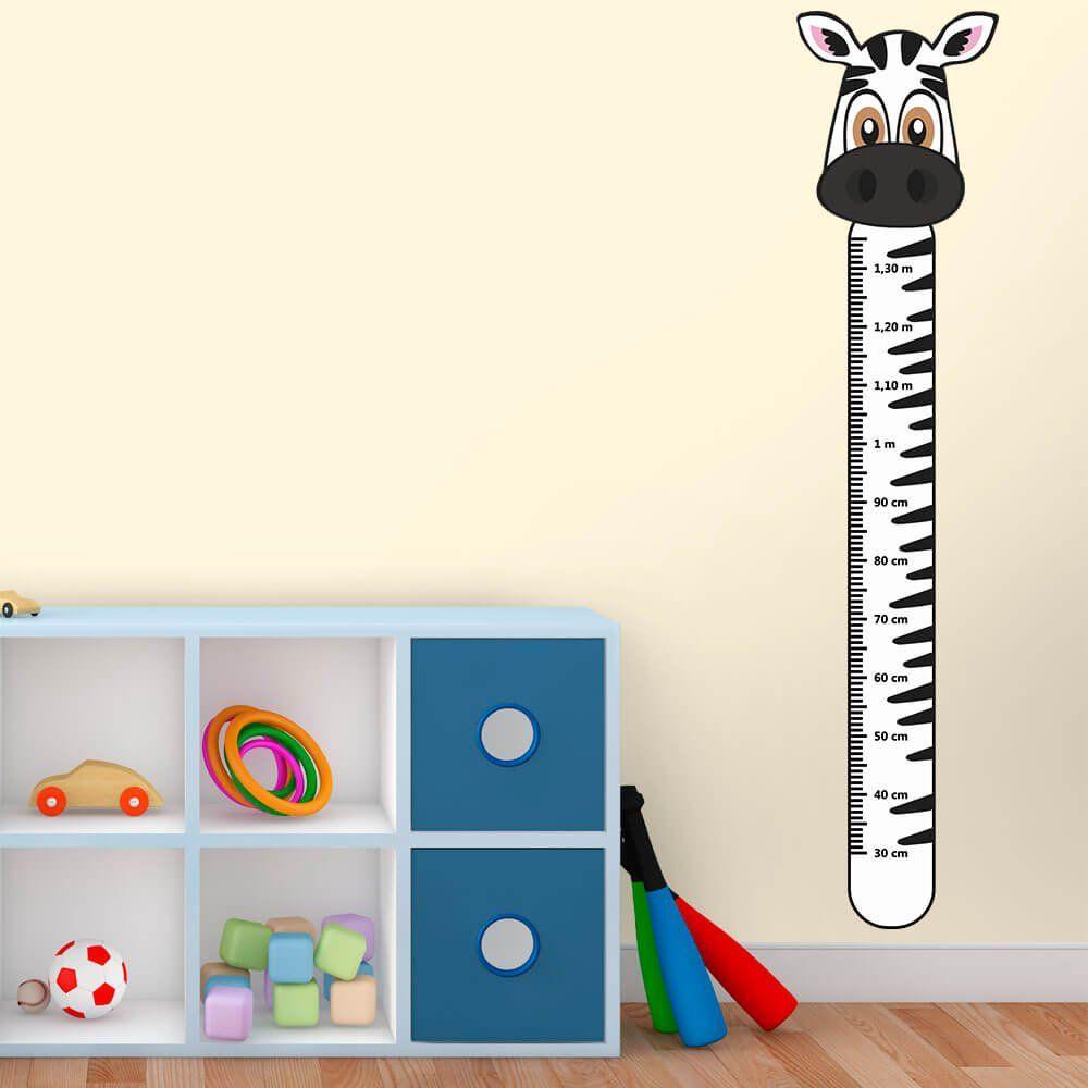 Adesivo Régua de Crescimento Zebra