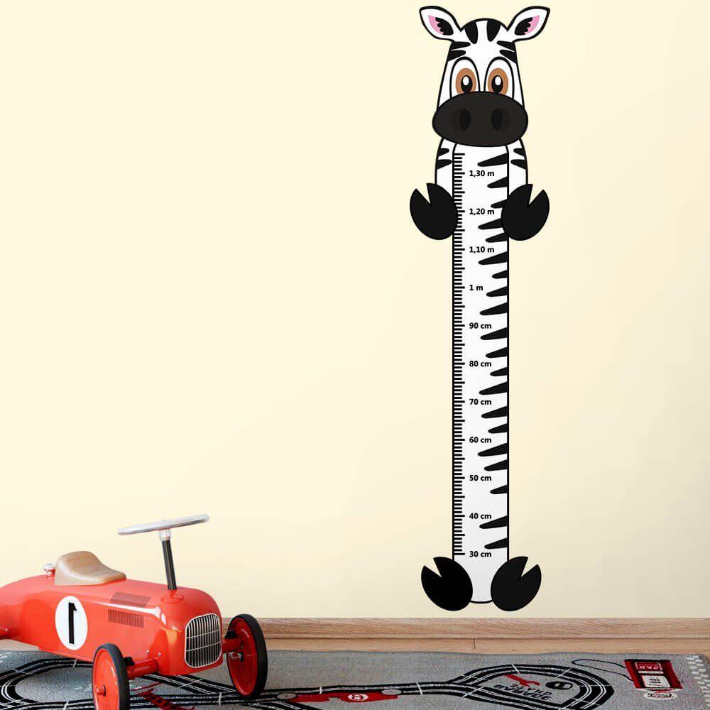 Adesivo Régua de Crescimento Zebra com Patas